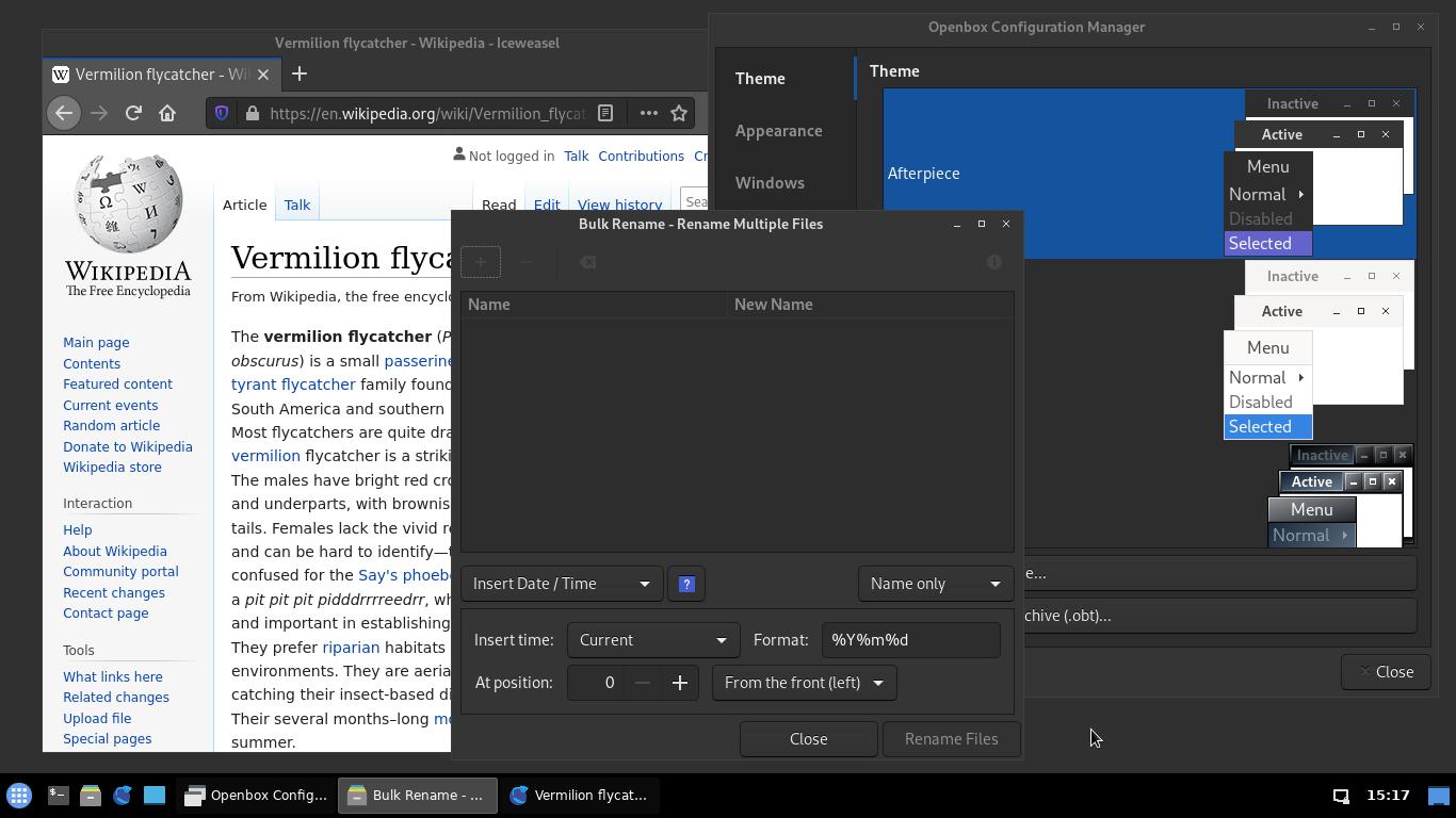 Openbox config screenshot dark theme